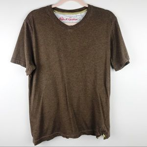 Robert Graham V Neck T Shirt Brown Size Large